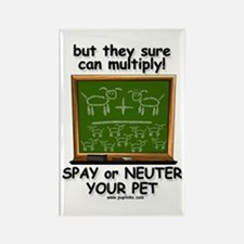 Dogs Can Multiply Rectangle Magnet (10 pack)