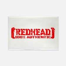 Redhead Tattered - 100% Athntc Rectangle Magnet