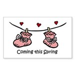 Coming this Spring Rectangle Sticker