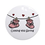 Coming this Spring Ornament (Round)