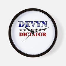 DEVYN for dictator Wall Clock
