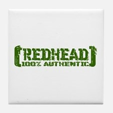 Redhead Tattered - 100% Athntc Tile Coaster