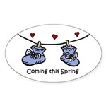 Coming this Spring Oval Sticker