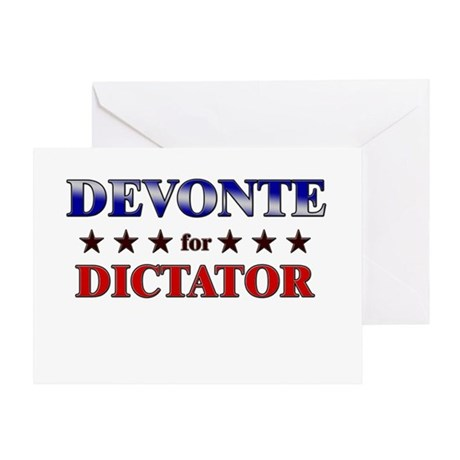 DEVONTE for dictator Greeting Card