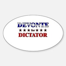 DEVONTE for dictator Oval Decal