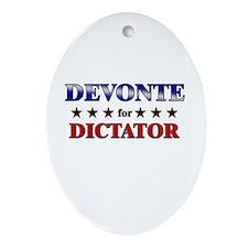 DEVONTE for dictator Oval Ornament