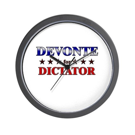 DEVONTE for dictator Wall Clock