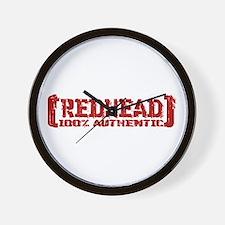 Redhead Tattered - 100% Athntc Wall Clock