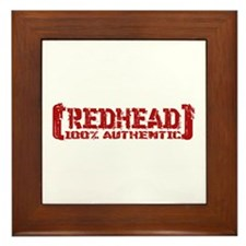 Redhead Tattered - 100% Athntc Framed Tile
