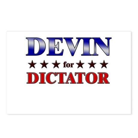 DEVIN for dictator Postcards (Package of 8)