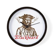 Red Blackbeard Wall Clock