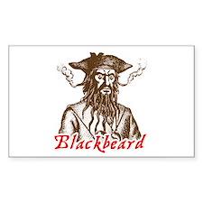 Red Blackbeard Rectangle Decal