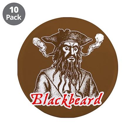"""Red Blackbeard 3.5"""" Button (10 pack)"""