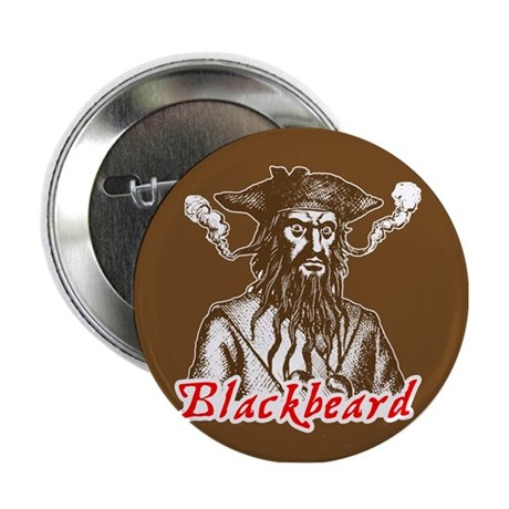 "Red Blackbeard 2.25"" Button"