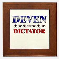 DEVEN for dictator Framed Tile