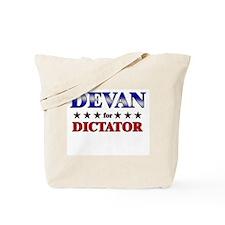 DEVAN for dictator Tote Bag