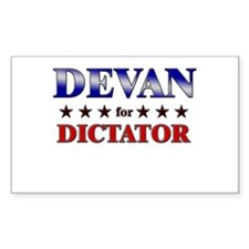 DEVAN for dictator Rectangle Decal
