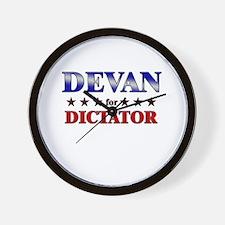 DEVAN for dictator Wall Clock