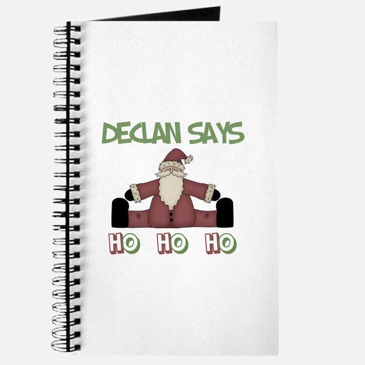 Declan Says Ho Ho Ho Journal