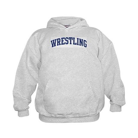 Wrestling (blue curve) Kids Hoodie