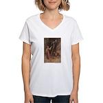 Warwick Goble's Parsley Women's V-Neck T-Shirt