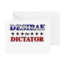 DESIRAE for dictator Greeting Card