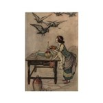 Warwick Goble's The Seven Doves Rectangle Magnet (