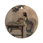 Warwick Goble's The Seven Doves Ornament (Round)