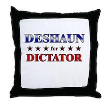 DESHAUN for dictator Throw Pillow