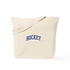 Hockey (blue curve) Tote Bag