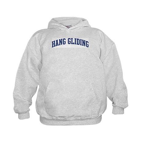 Hang Gliding (blue curve) Kids Hoodie