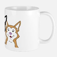 Copper and Black Siberian Husky Puppies Mug