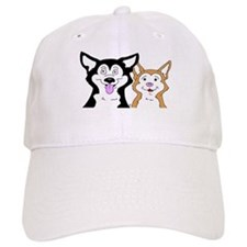 Copper and Black Siberian Husky Puppies Baseball Cap