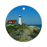 Portland head lighthouse Round Ornaments