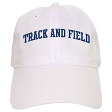 Track And Field (blue curve) Baseball Cap