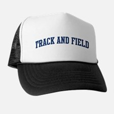 Track And Field (blue curve) Trucker Hat