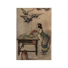 Warwick Goble's The Seven Doves Rectangle Magnet