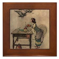 Warwick Goble's The Seven Doves Framed Tile