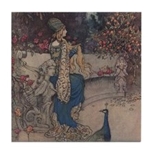 Warwick Goble's The She Bear Tile Coaster