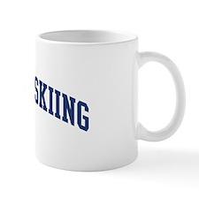 Telemark Skiing (blue curve) Mug