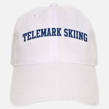 Telemark Skiing (blue curve) Baseball Baseball Cap