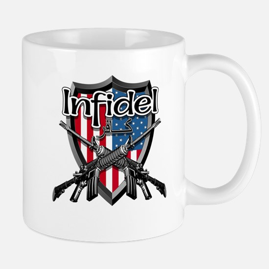 American Flag Infidel Shield Mugs