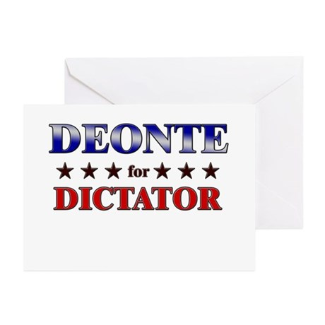 DEONTE for dictator Greeting Cards (Pk of 20)