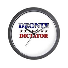 DEONTE for dictator Wall Clock