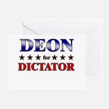 DEON for dictator Greeting Card