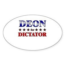 DEON for dictator Oval Decal