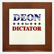 DEON for dictator Framed Tile