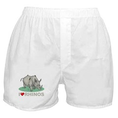 I Love Rhinos Boxer Shorts