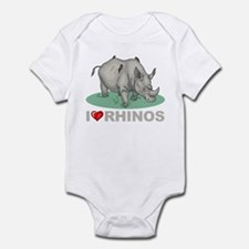 I Love Rhinos Infant Bodysuit