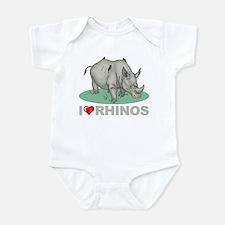 I Love Rhinos Onesie